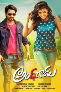 Poster Of Andhhagadu Full Movie in Hindi HD Free download Watch Online Telugu Movie 720P