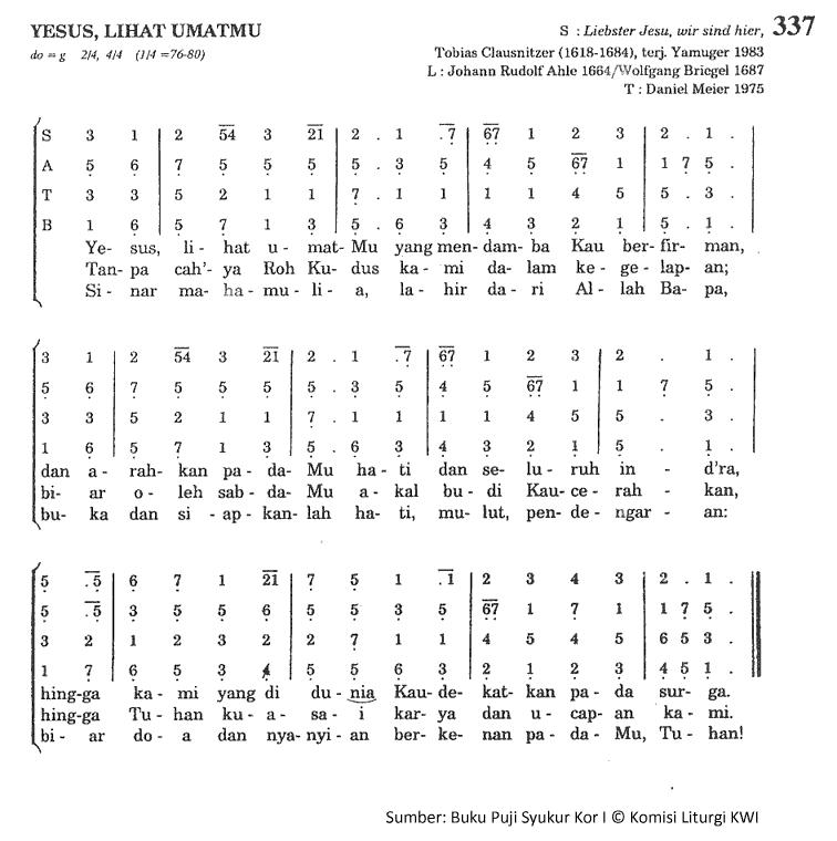 Lirik Dan Chord Lagu Yesus Lihat UmatMu