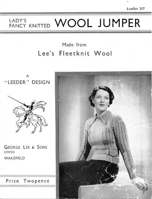 1930's Knitting - Fancy Knitted Wool Jumper