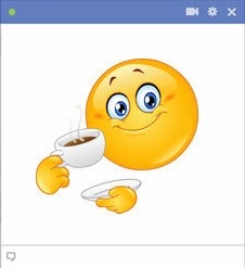 smiley facebook coffee