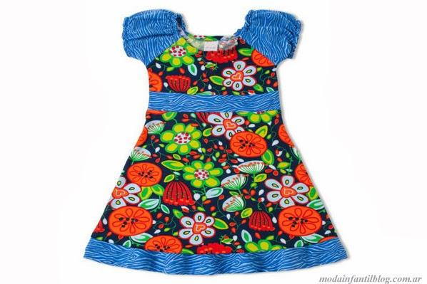 moda en vestidos para niñas GdeB verano 2014