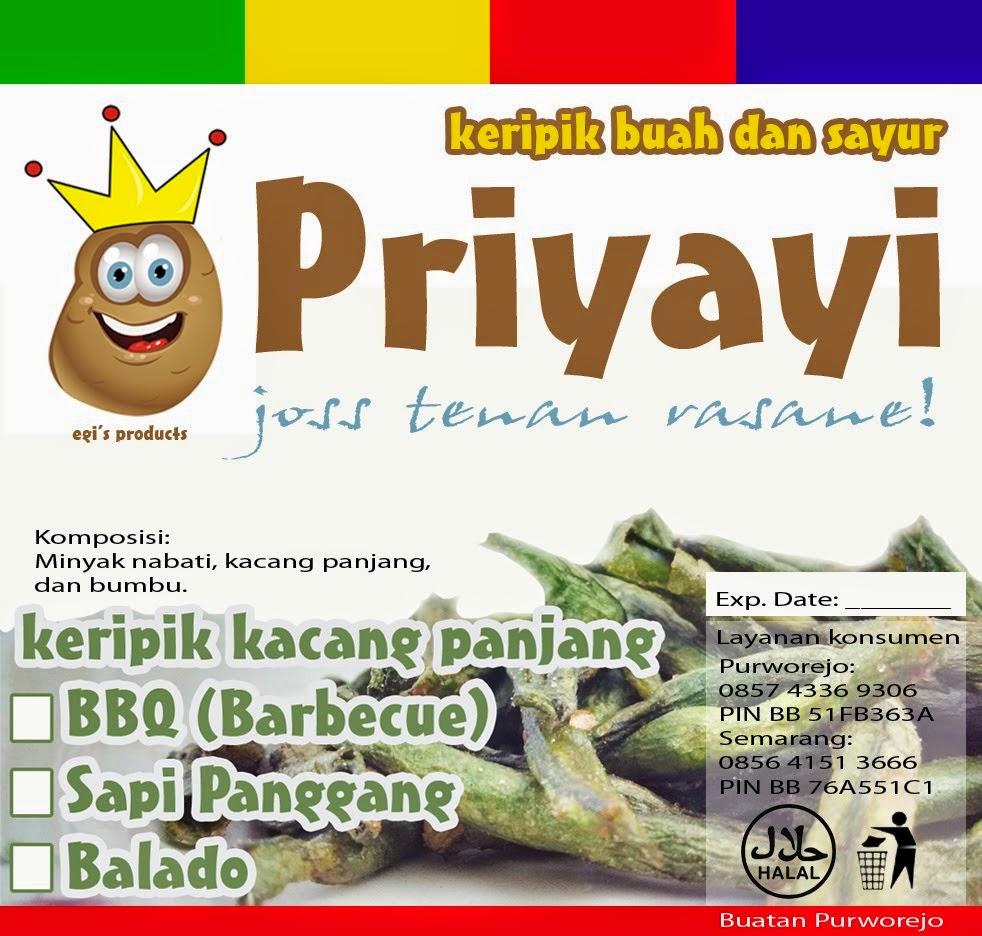 PRIYAYI CHIPS made in Purworejo, Central Java