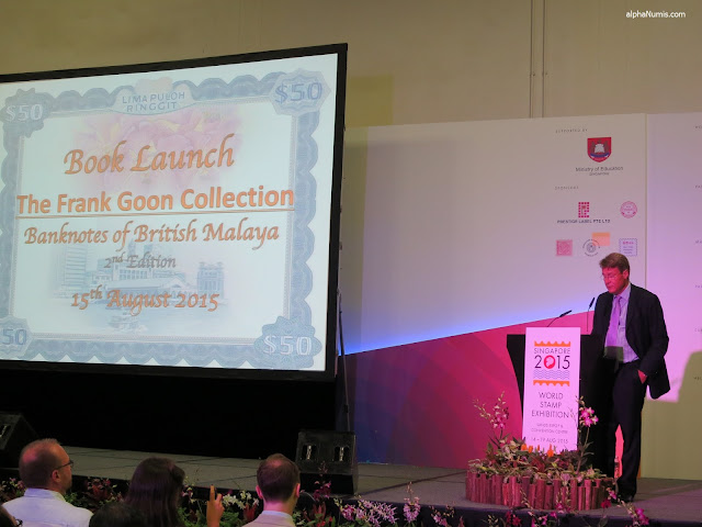 Mr. Olivier D. Stocker, Chairman and CEO of Spink giving the opening speech at the book launch