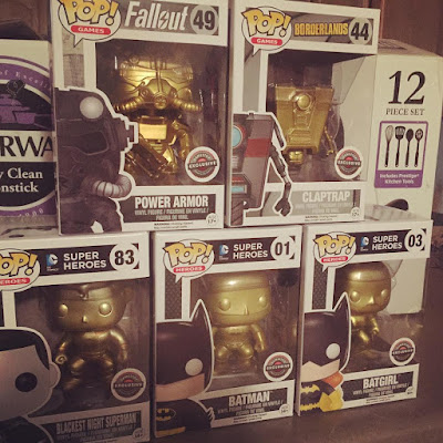 GameStop Exclusive Black Friday Funko Mystery Box Gold Chase Vinyl Figures - Blackest Night Superman, Batman, Batgirl, Claptrap & Power Armor