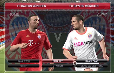 Ribery Red Bayer Munich FC VS Ribery White Bayer Munich FC