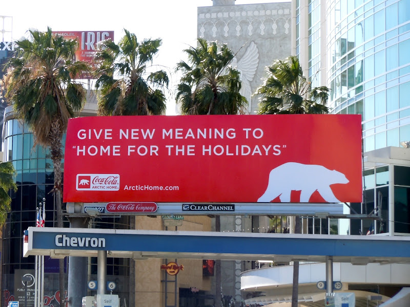 Coke polar bear billboard 2011