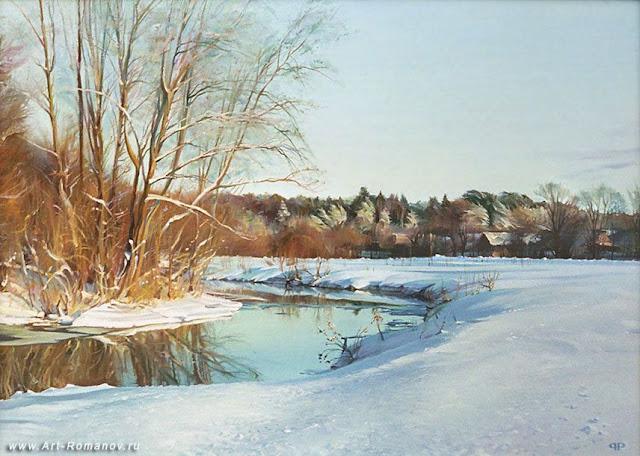 Roman Romanov 1966 | Russian Landscape painter