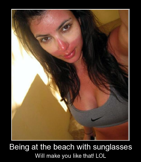 Being At A Beach With Sunglasses
