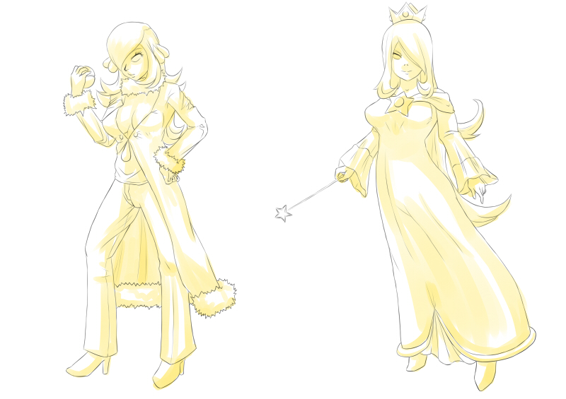 [Lineart] Reasonable Similarities - Cynthia/Rosalina