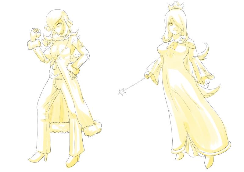 [Lineart] Reasonable Similarities - Cynthia/Rosalina