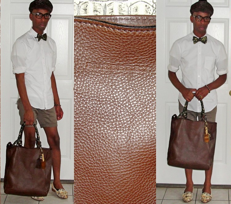 New Man Bag- Burberry Grainy Leather Brown Slane Tote