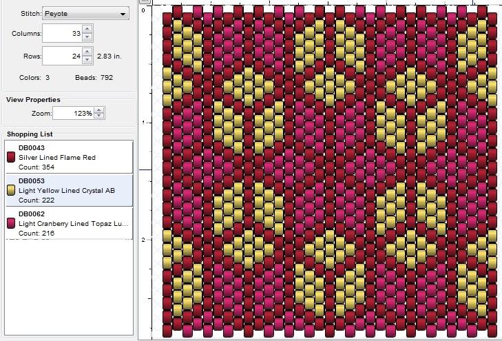 imaginesque  beading  peyote stitch pattern 9  tumbling