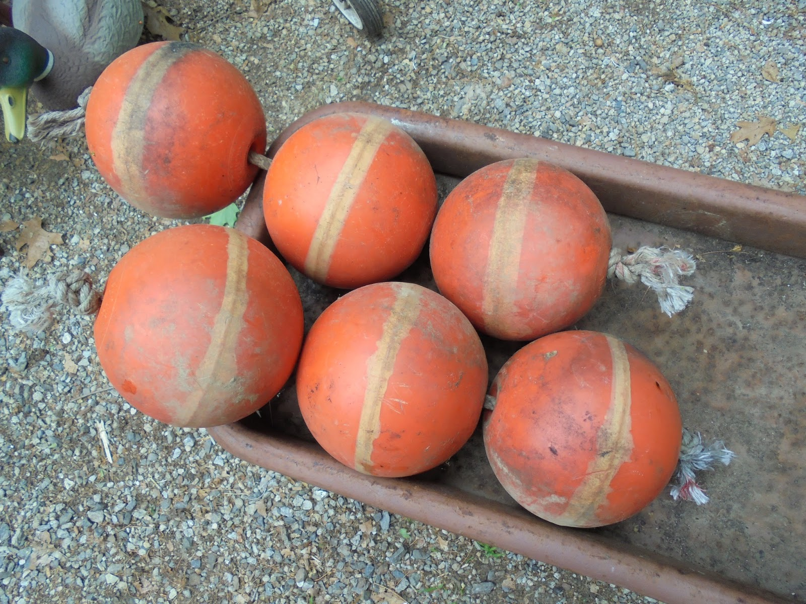 Log Cabin Antiques & Gifts: Fun and colorful fishing net float balls