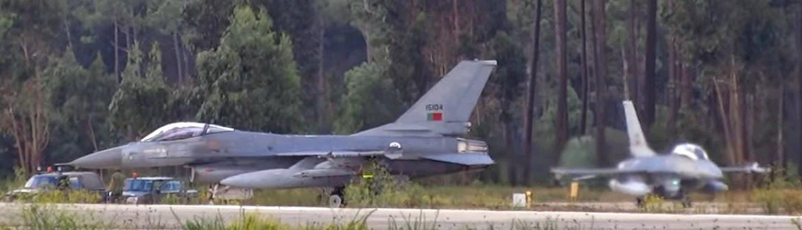 20 Anos dos aviões F-16, desde Julho de 1994.