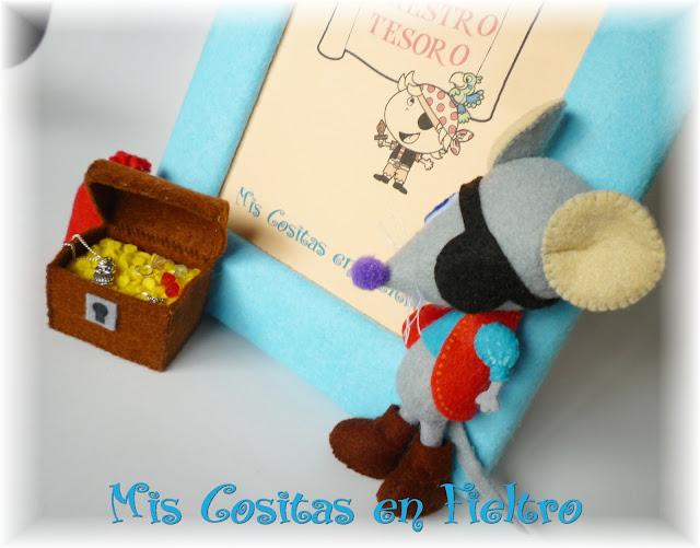 portafotos, marco para fotos, marco de fotos, foto, fotografía, niño, regalo, ratón, ratones, pirata, piratas, tesoro, 3D