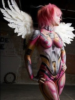 Extreme-Body-Painting-Airbrush-Angel-Design