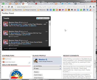 How to Add Twitter Feed Widget on Blogger Procedure 9 by www.maxginez3.com