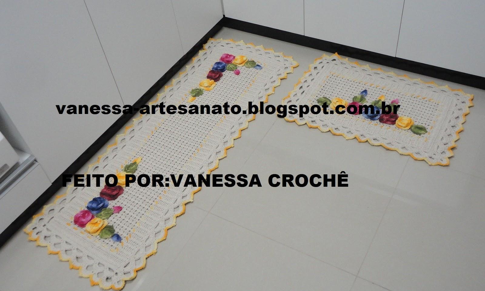 VANESSA CROCHÊ: JOGO DE TAPETES DE CROCHÊ Ref.T063 #9A7231 1600 960
