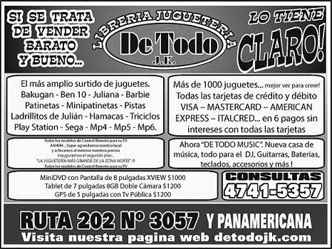 """Visita el nuevo """"DE TODO JK"""" LA JUGUETERÍA MAS GRANDE DE DON TORCUATO"""