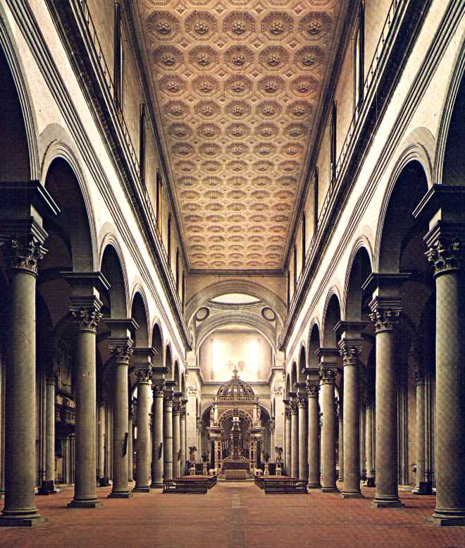 1000 images about renacimiento arquitectura on pinterest for Interior iglesia san lorenzo brunelleschi