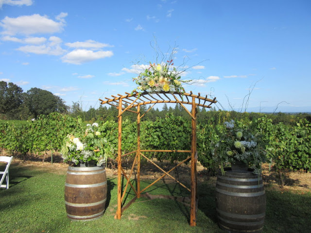 Wedding arbor we made