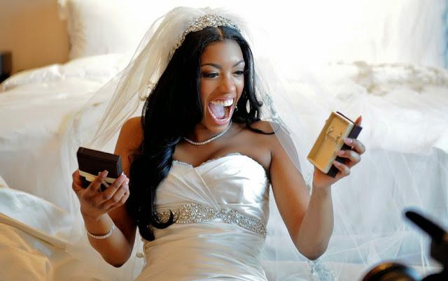 Porsha stewart giving away wedding dress for Wedding dress cleaning atlanta
