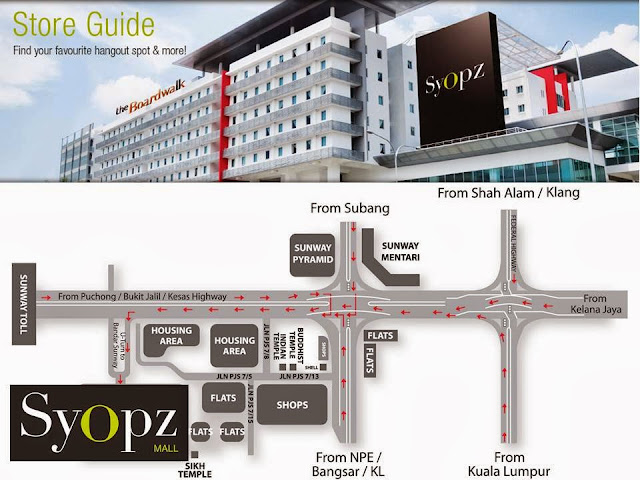 Syopz Mall Taylors - location map