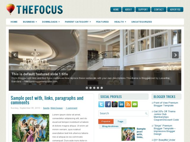 TheFocus Blogger Template