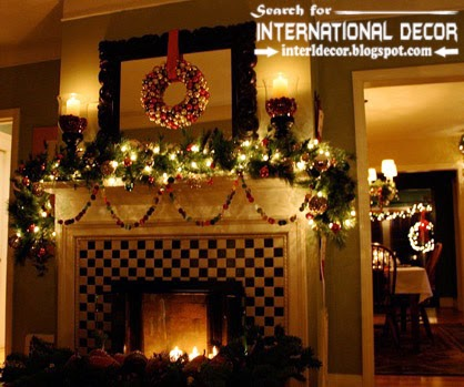 best Christmas decorating ideas for fireplace 2015, Christmas fireplace decor 2015