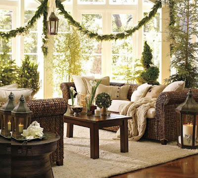 christmas interior decorate