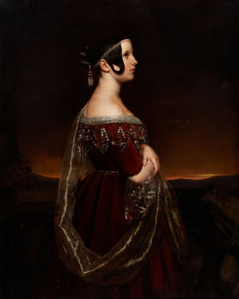 Ary Scheffer lady pearls