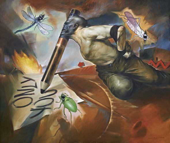 Viktor Safonkin pinturas surreais sombrias medievais mitológicas religião subconsciente Only you (Apenas você)