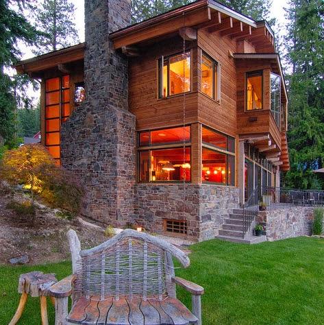 Fotos de casas de madera y piedra imagui for Casa moderna en el campo