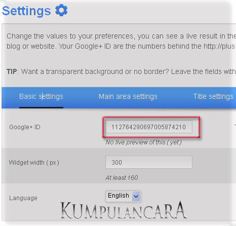 Cara Pasang Widget Google Plus Di Blogger img1