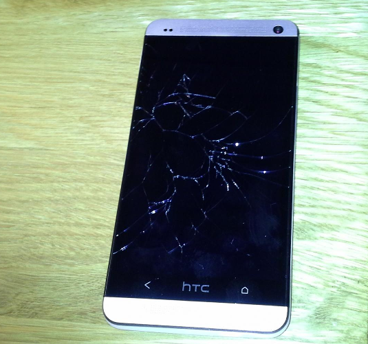 shattered broken htc one display screen