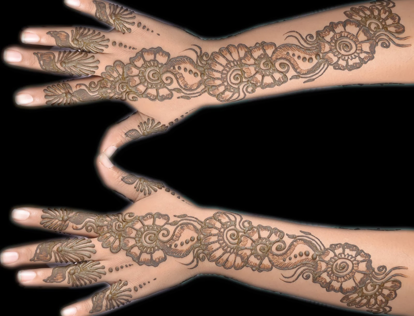 Beautiful Latest Simple Arabic Pakistani Indian Bridal Girl Mehndi Designs