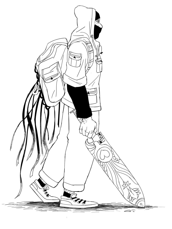 Displaying 16> Images For - Ninja Drawings Easy...