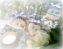 biscotti matrimonio con iniziali