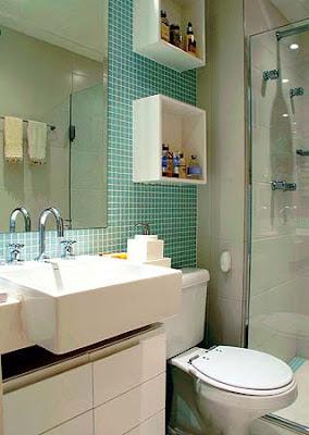 decoração de banheiros com pastilhas de vidro