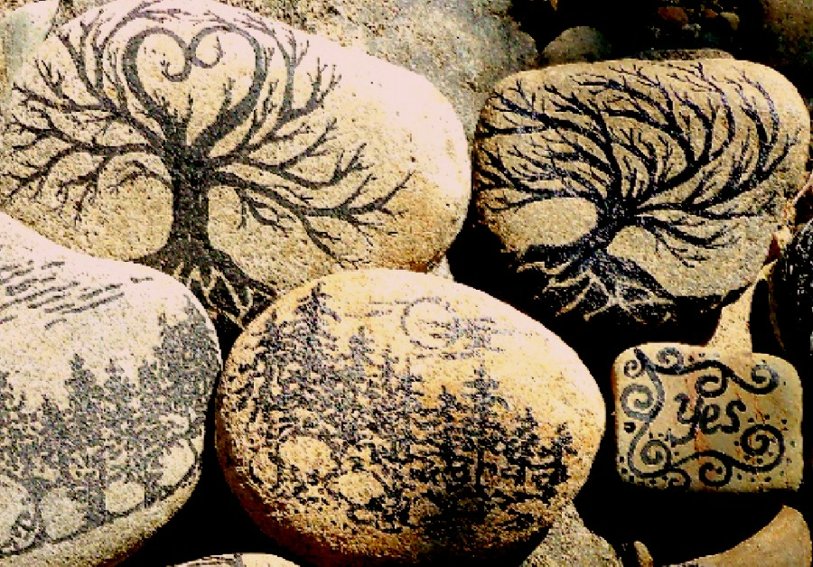 Make the best of things paint pen project 2 - River rock painting ideas ...