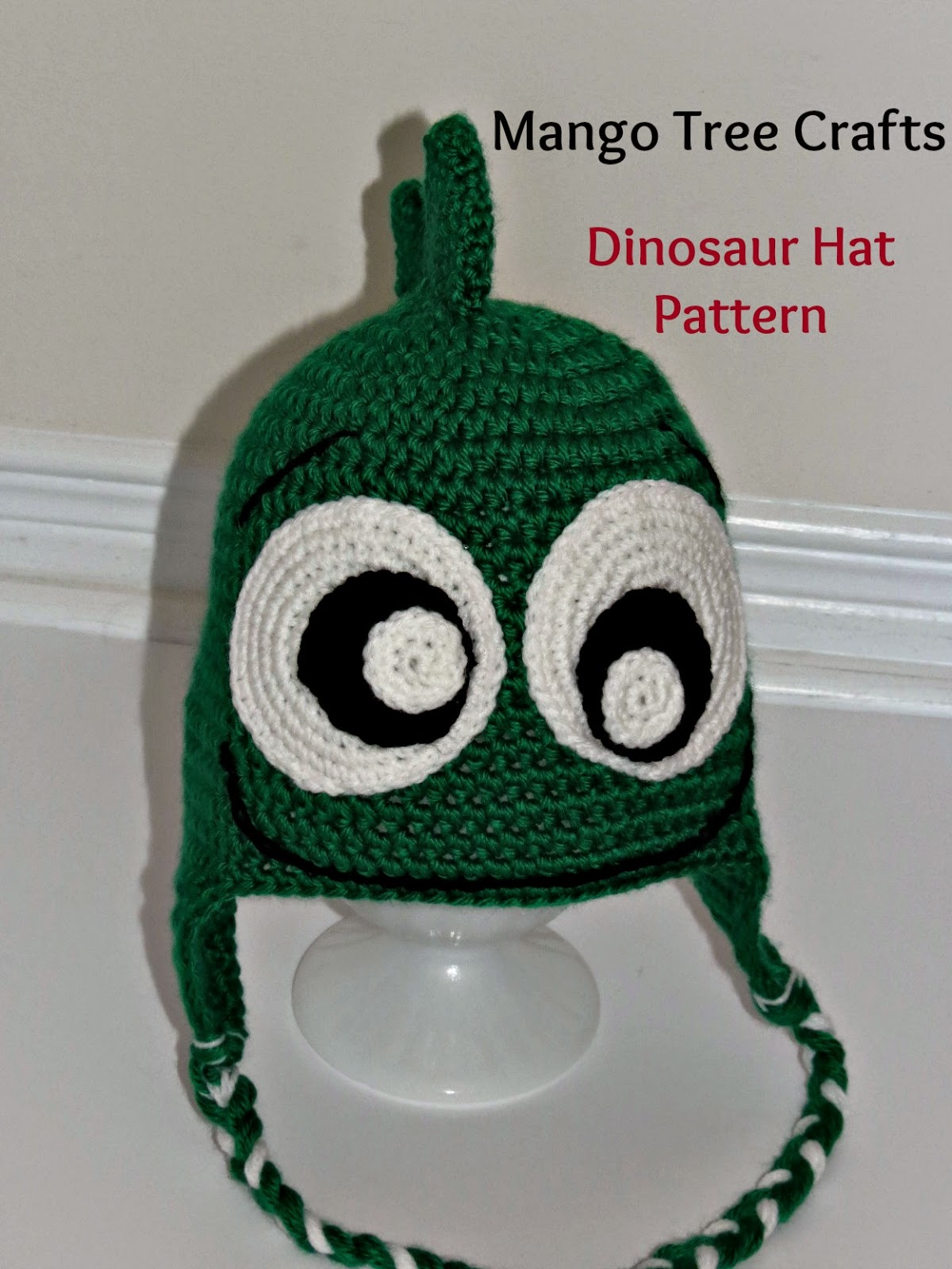 Mango Tree Crafts: Crochet Dinosaur Hat Pattern