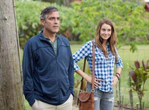 George Clooney y Shailene Woodley en Los descendientes