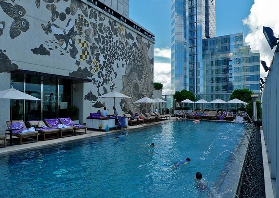 Funtrublog Beautiful And Amazing Roof Top Swimming Pools Around The World