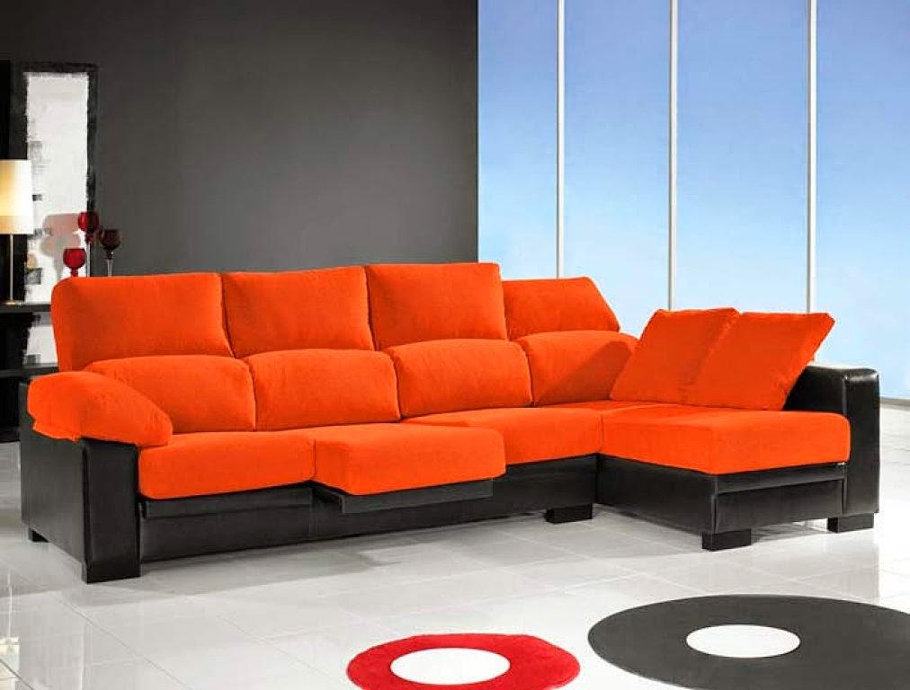 Muebles X Muebles Sofá naranja, perfecto para decorar!