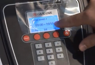 robot cortacesped gardena display programacion