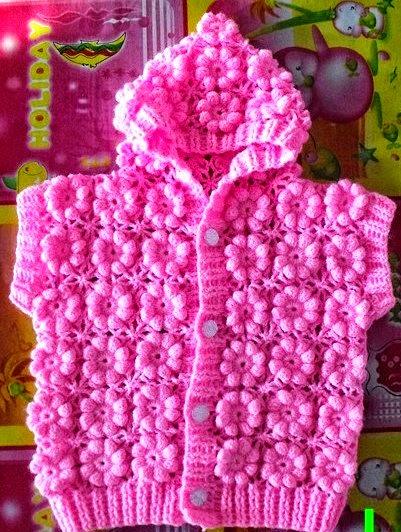 Crochet Baby Sweater Diagram : Como tejer el punto