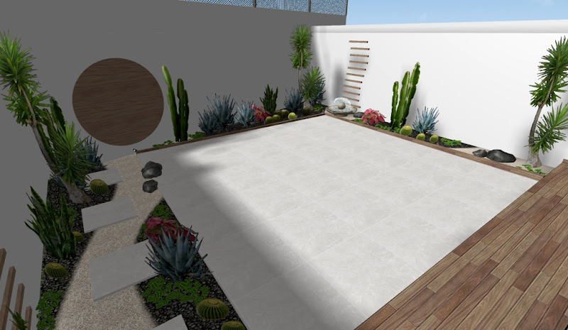 diseños de jardines hermosos de cactus - ejemplo de adornos y decoracion