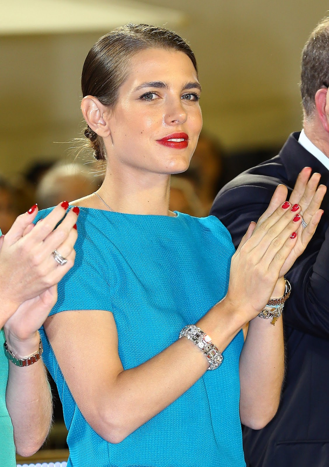 Charlotte Casiraghi sported two great Gucci outfits on the arena last week.