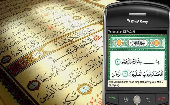Hukum Membaca Al Qur'an Digital di Hanphone