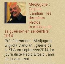 Medjugorje : Gigliola Candian , les dernières photos exclusives de sa guérison en septembre 2014.